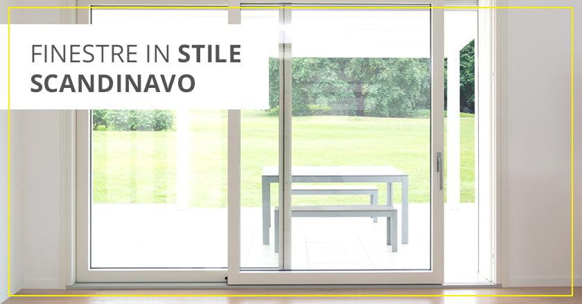 Quali infissi scegliere? Finestre moderne in legno stile scandinavo