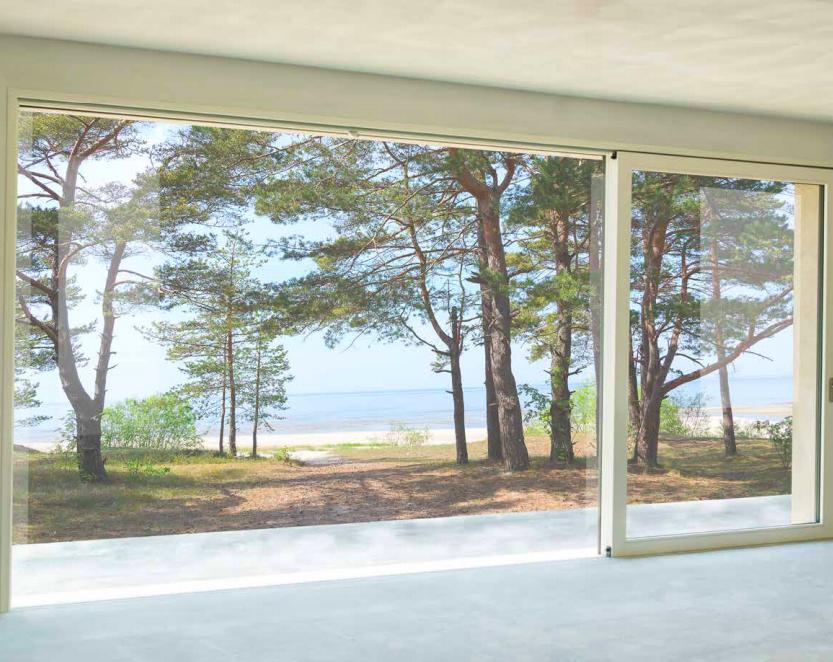 maxi finestra moderna in legno